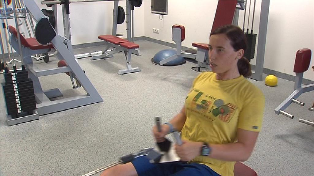 Romana Labounková nabírá v posilovně sílu na londýnskou olympiádu
