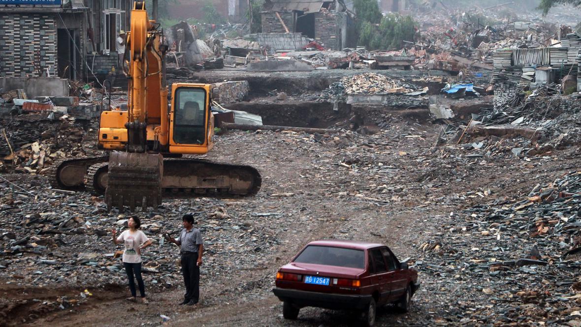 Následky povodní v Pekingu