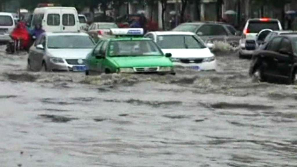 Záplavy v severní Číně