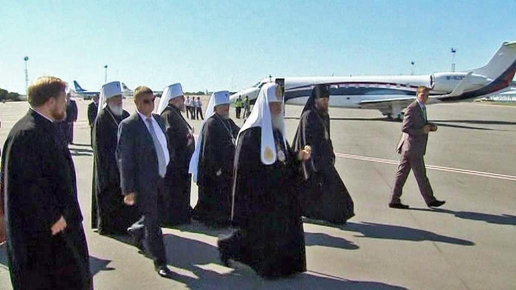 Patriarcha Kirill na návštěvě Kyjeva