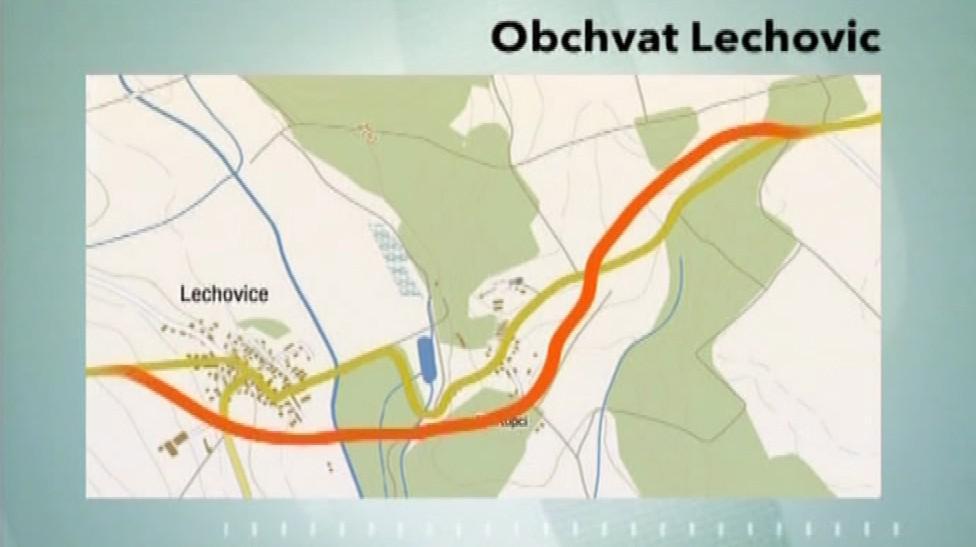 Plánovaný obchvat Lechovic