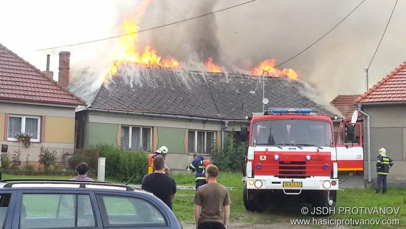 Zásah hasičů v Benešově