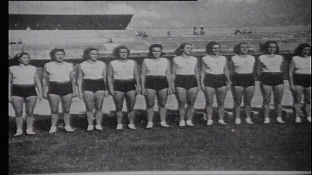 Londýnská zlatá gymnastická sestava z roku 1948