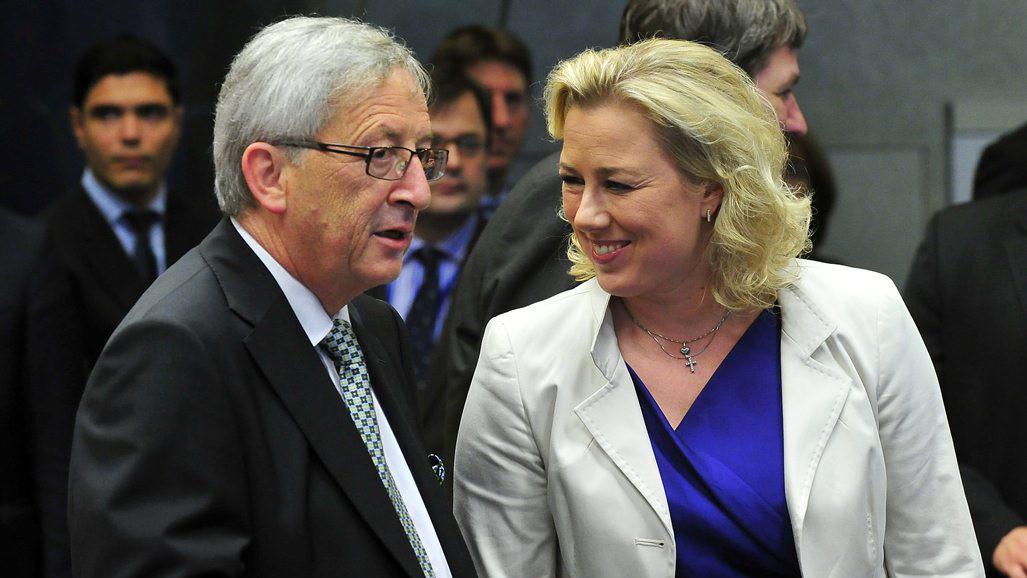 Jean-Claude Juncker a Jutta Urpilainenová