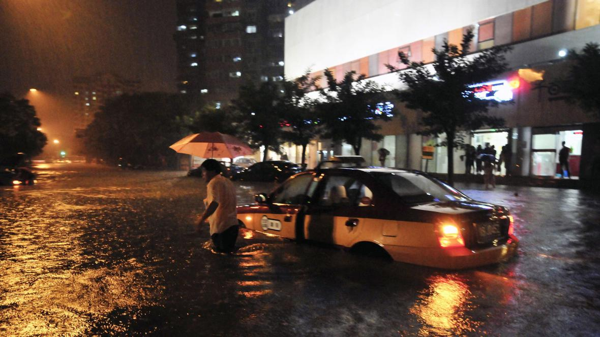 Záplavy v Pekingu