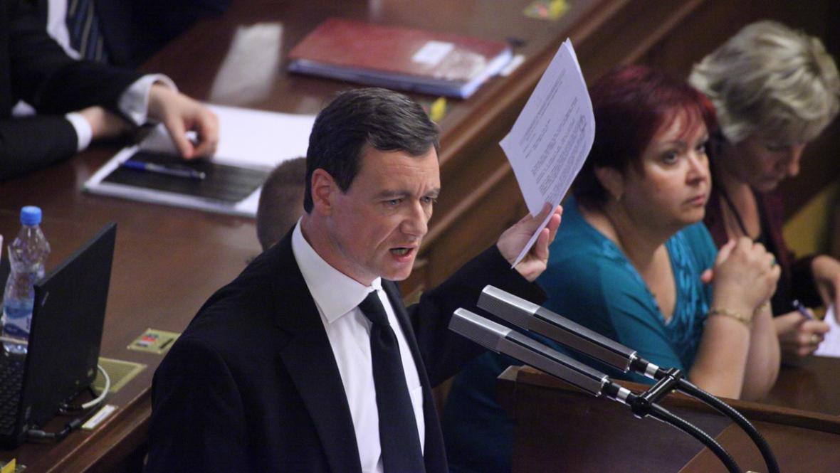 Rath při proslovu ve sněmovně