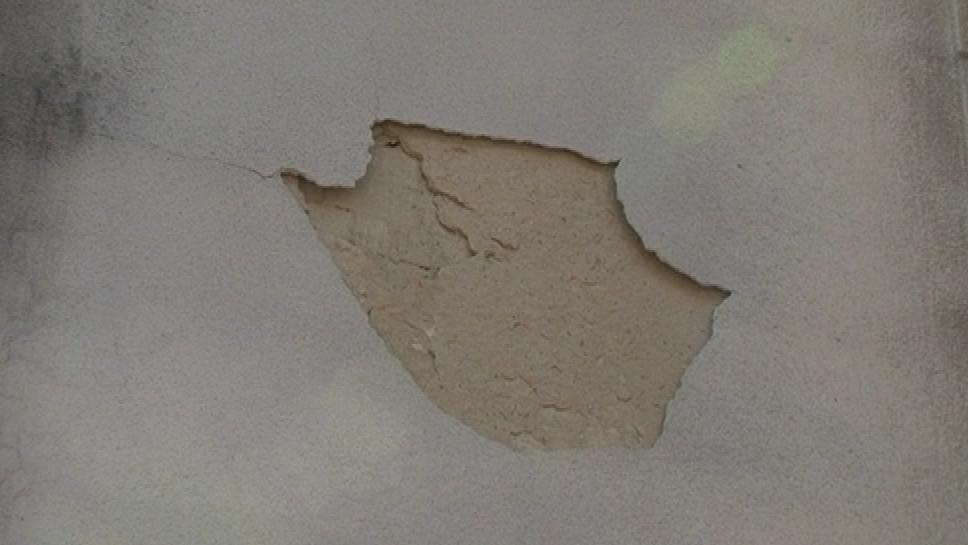 Poškozená je i fasáda pavilonu