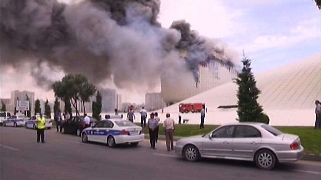 Požár v Baku