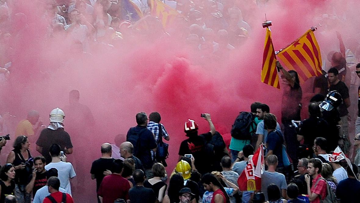 Protivládní demonstrace ve Španělsku