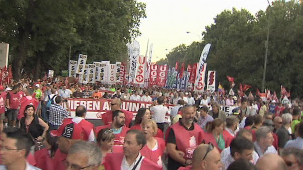 Protivládní demonstrace ve španělském Madridu