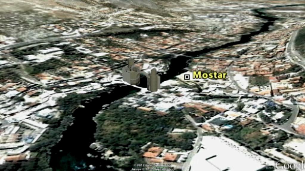 Mostar na mapě