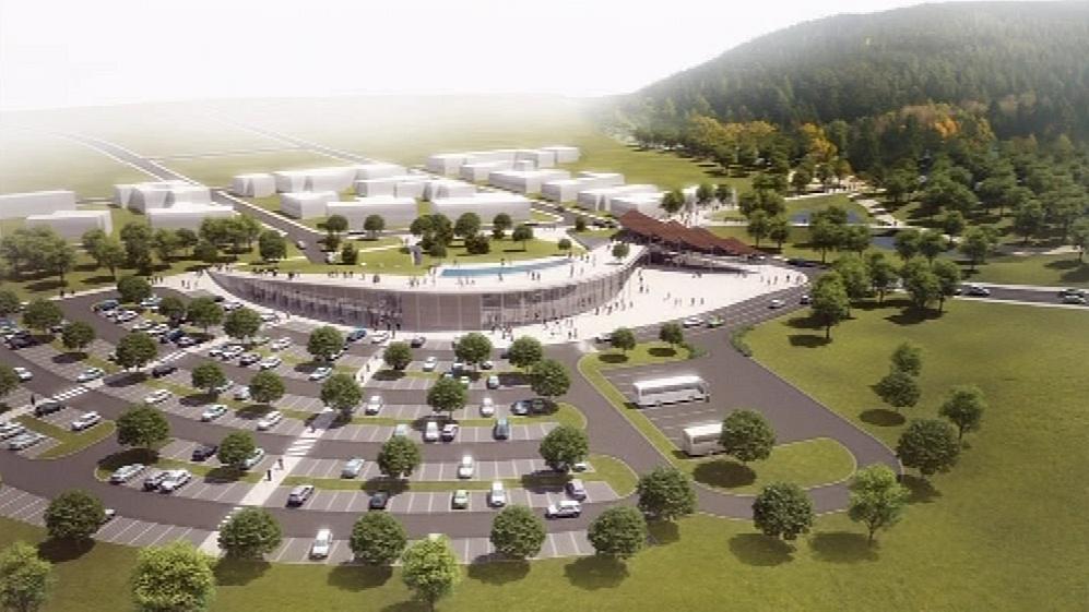Návrh parkoviště před zoo v Brně-Kníničkách