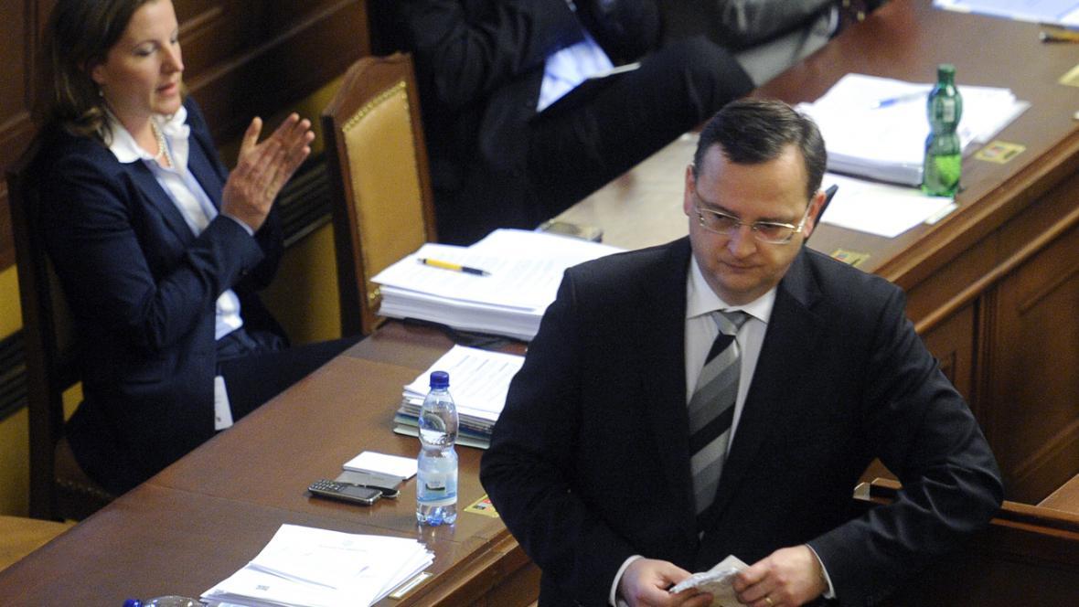 Petr Nečas (ODS) ve sněmovně