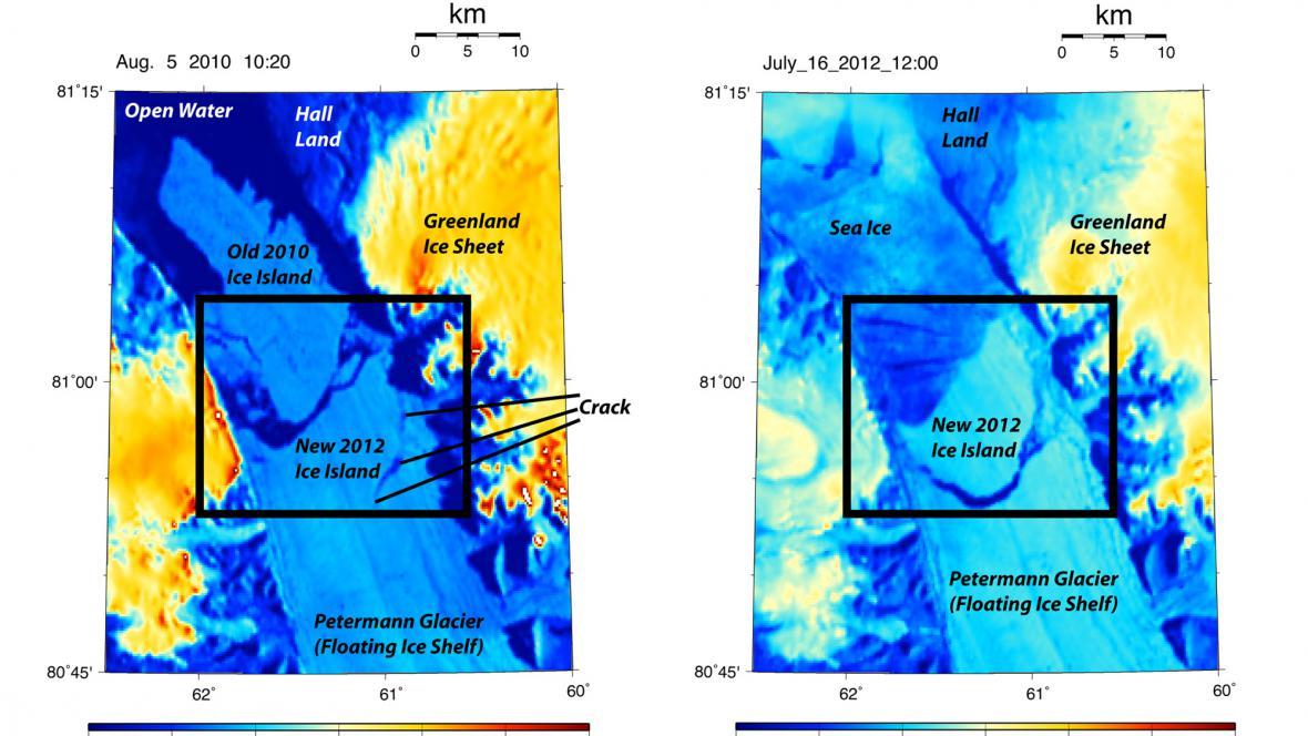Od grónského ledovce se utrhla kra