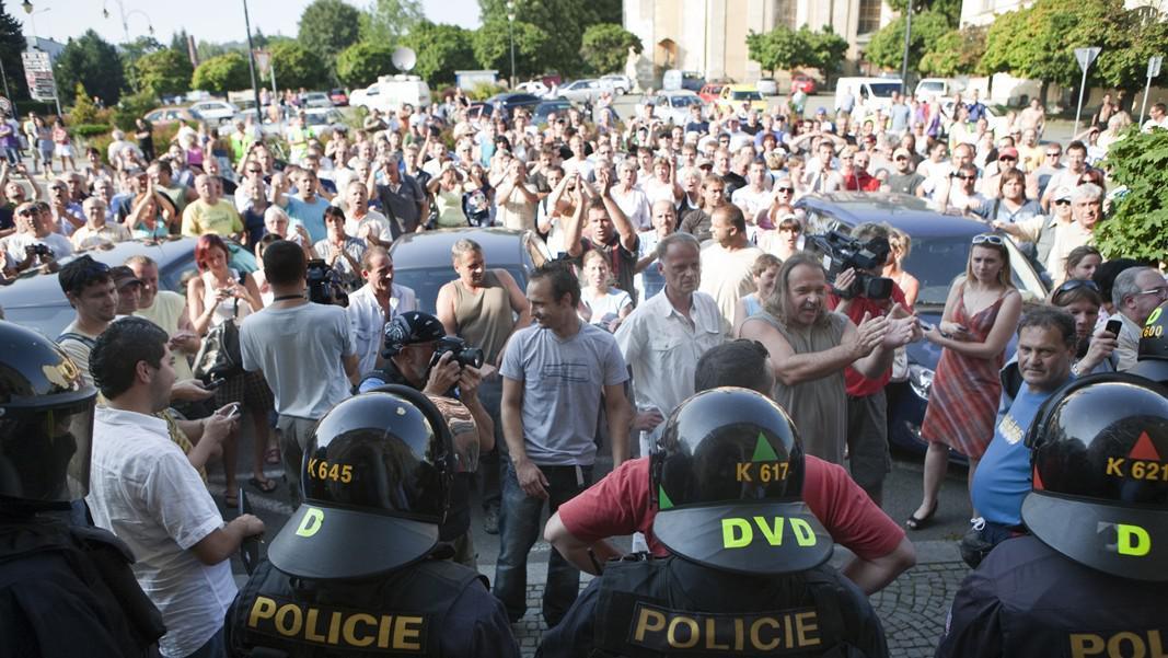 Loňská demostrace ve Varnsdorfu (září 2011)