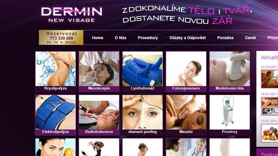 Jeden z posledních počinů Lubomíra Hermana - salon Dermin