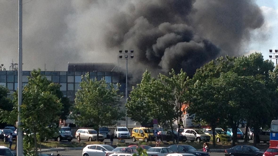 Výbuch na letišti v Burgasu