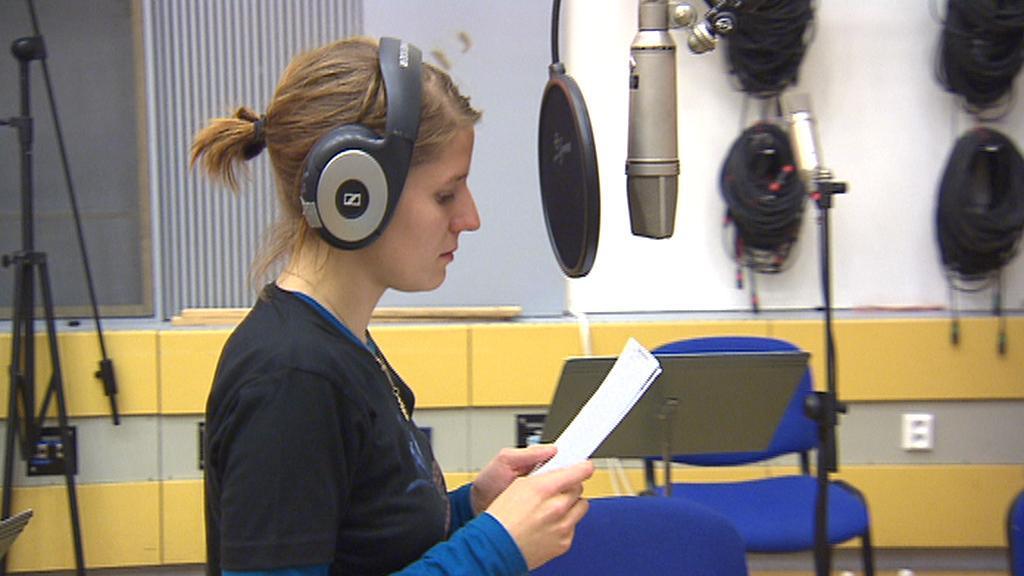 Markéta Irglová ve studiu