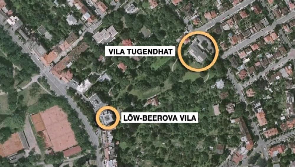 Obě slavné vily měly v minulosti společnou zahradu