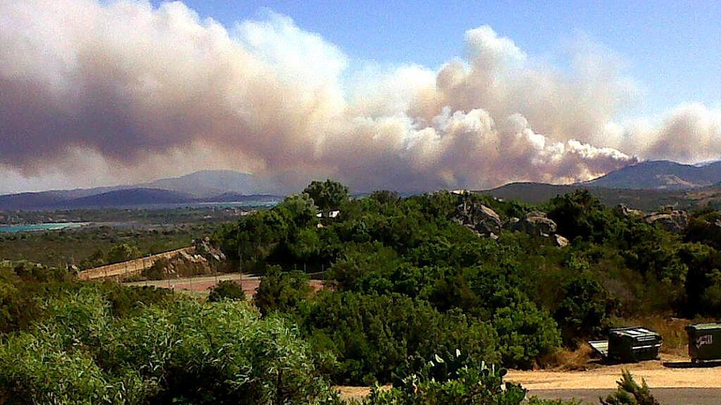 Požár na Sardinii