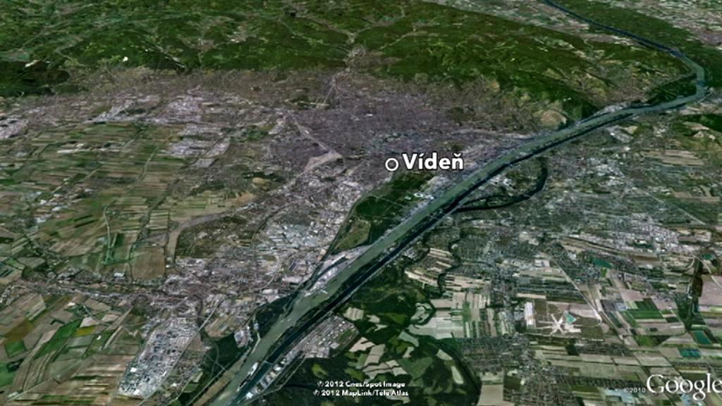 Vídeň - mapa