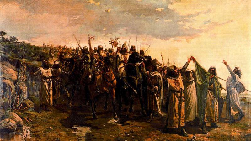 Obraz bitvy od Víctora Morelliho