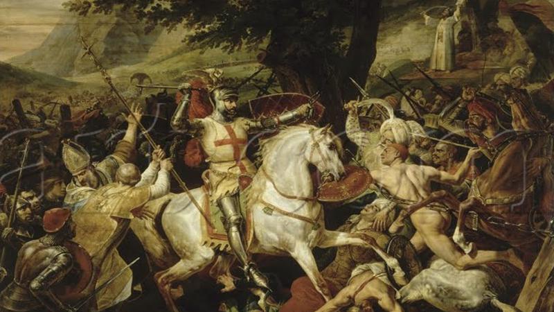 Obraz bitvy od Horacia Verneta