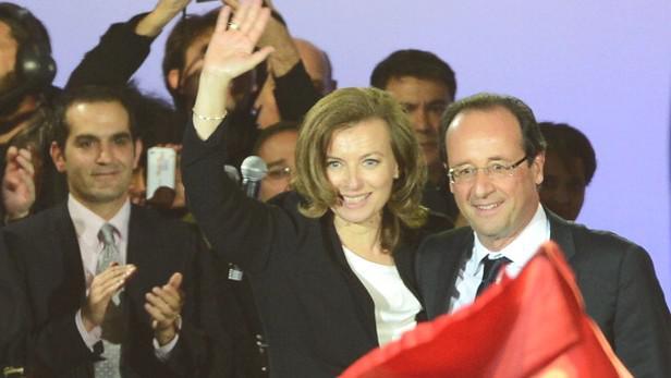 François Hollande a Valérie Trierweilerová