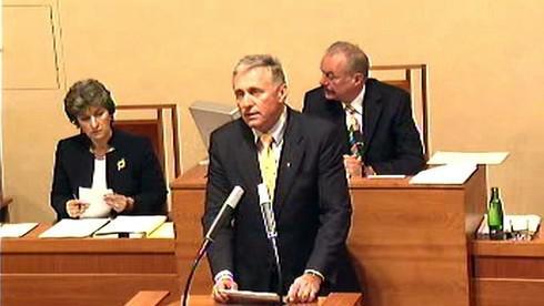 Mirek Topolánek v Senátu