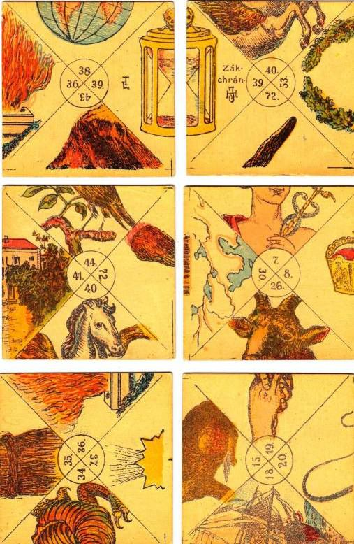 Karty  astrologa Giovanniho Babtisty Seniho