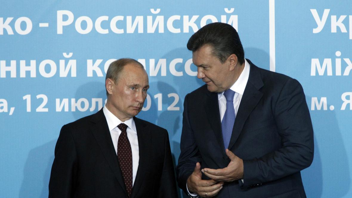 Valdimir Putin a Viktor Janukovyč