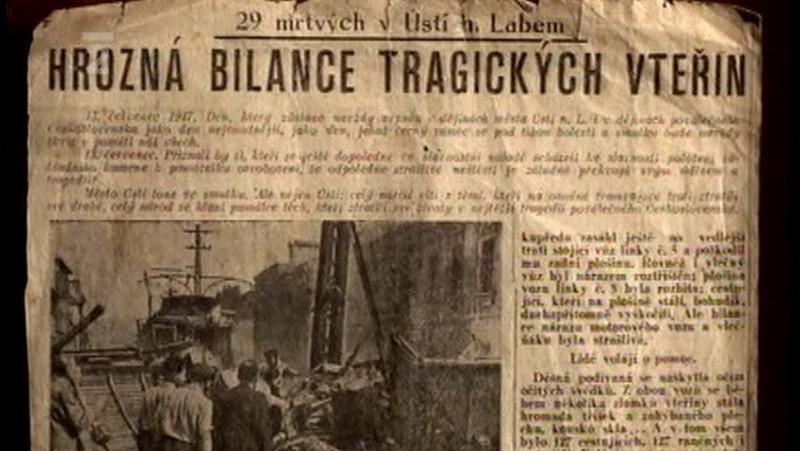 Tragédie v tehdejším tisku