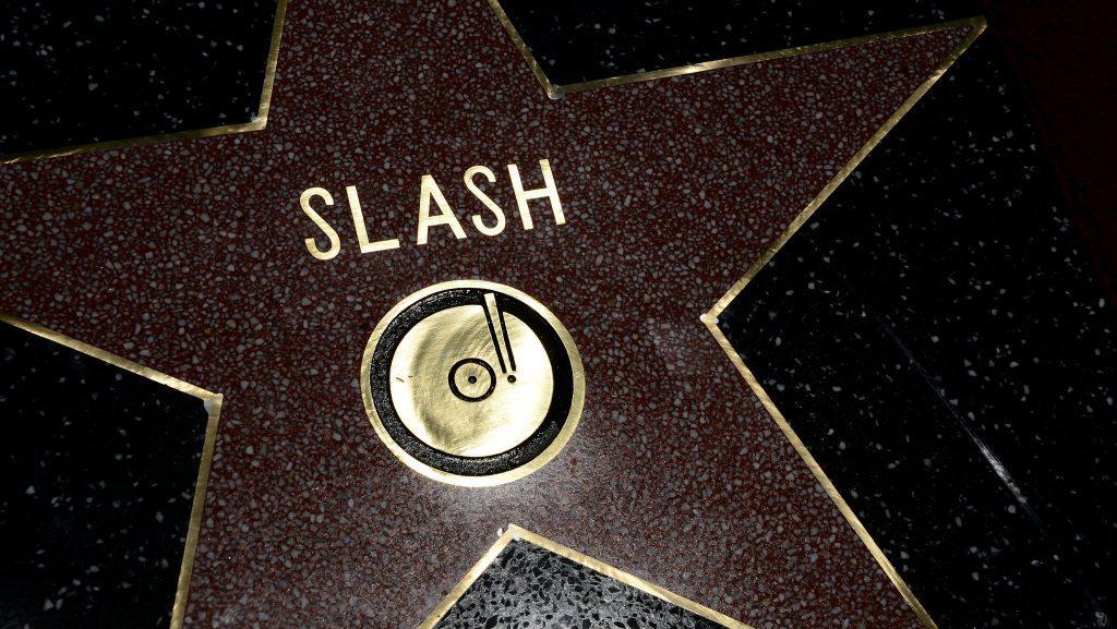 Slash má hvězdu na chodníku slávy