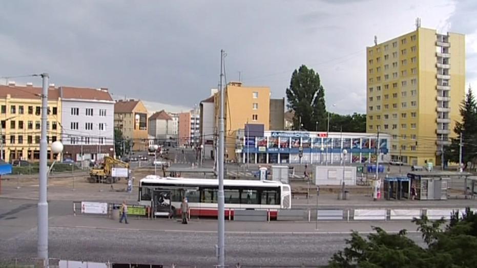 Výhled z posedu na Mendlově náměstí v Brně