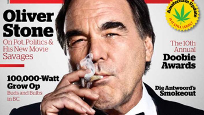 Oliver Stone na obálce High Times