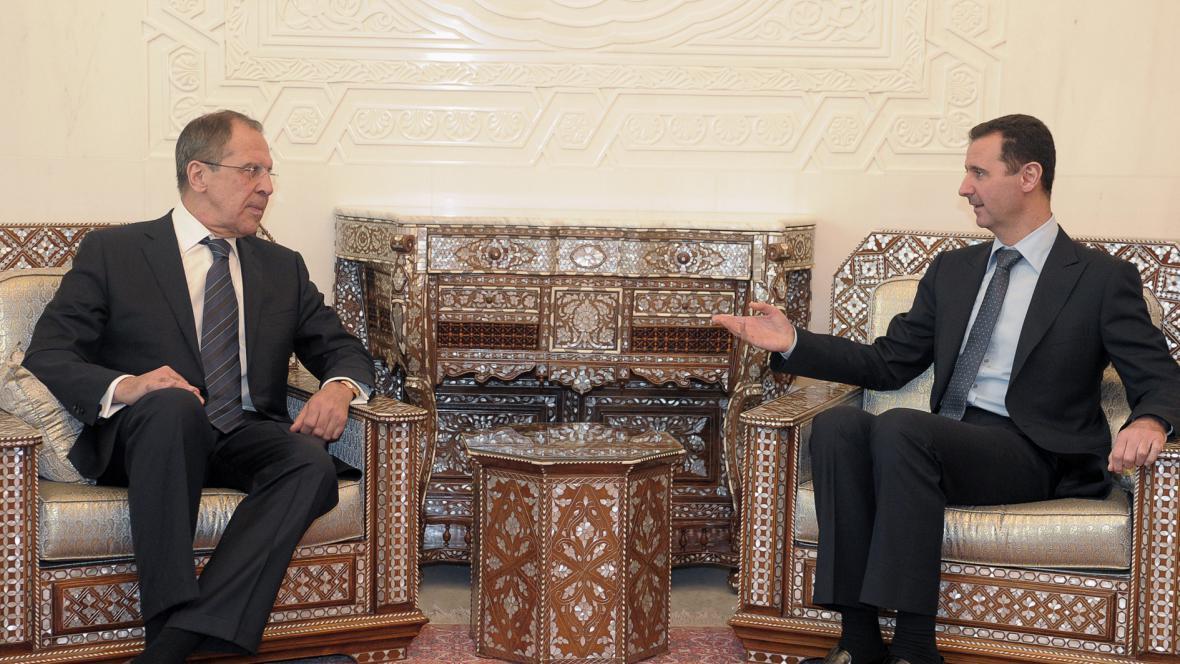 Sergej Lavrov a Bašár Asad