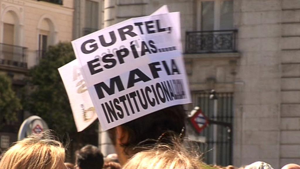 Demonstrant ve Španělsku