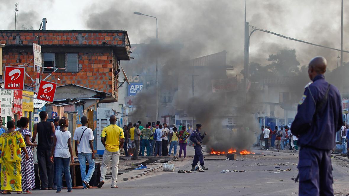 Povolební nepokoje v Kongu