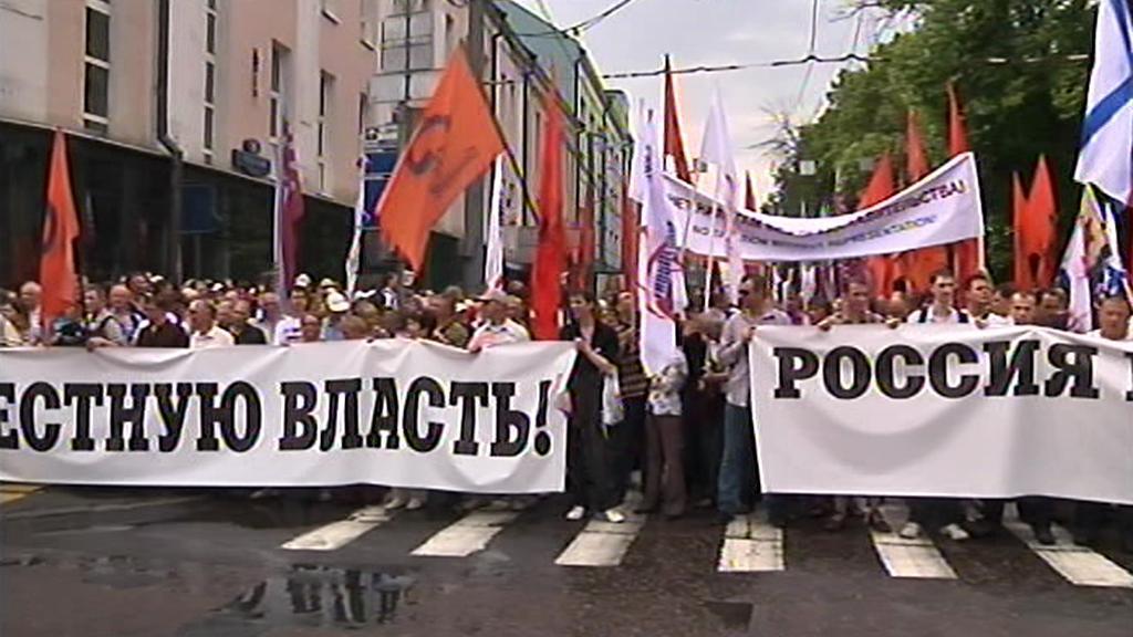 Protestní pochod v Moskvě