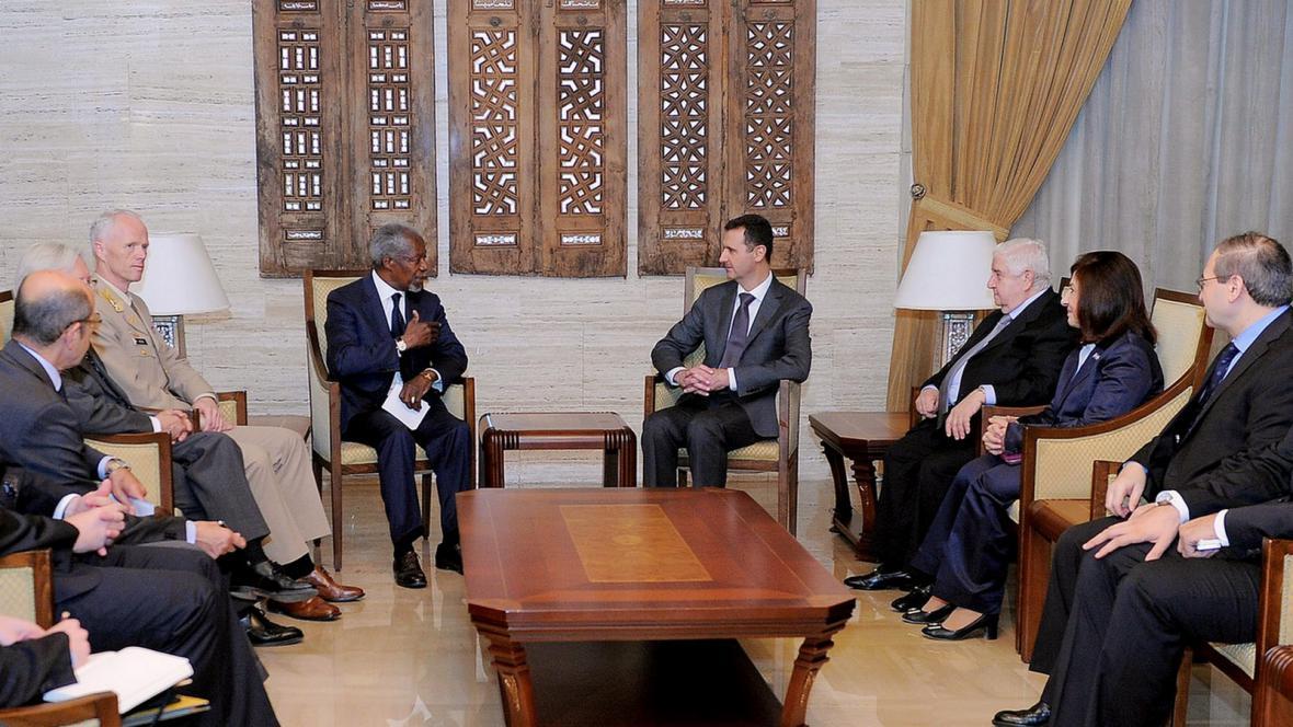 Kofi Annan a Bašár Asad