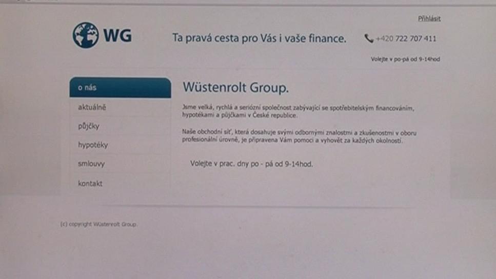Webové stránky Wüstenrolt Group