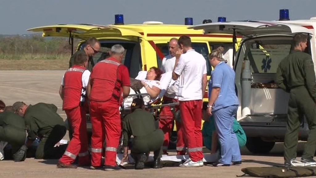 Přeprava zraněných z Chorvatska do ČR