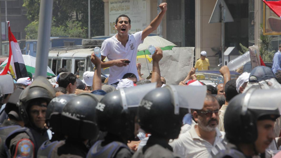 Pochod na podporu prezidenta Mursího