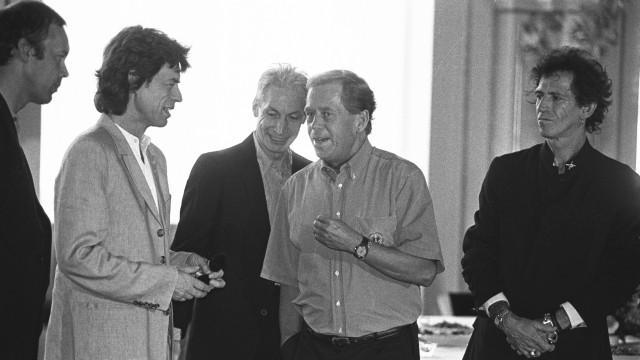Havel přivítal na Hradě Rolling Stones (1995)