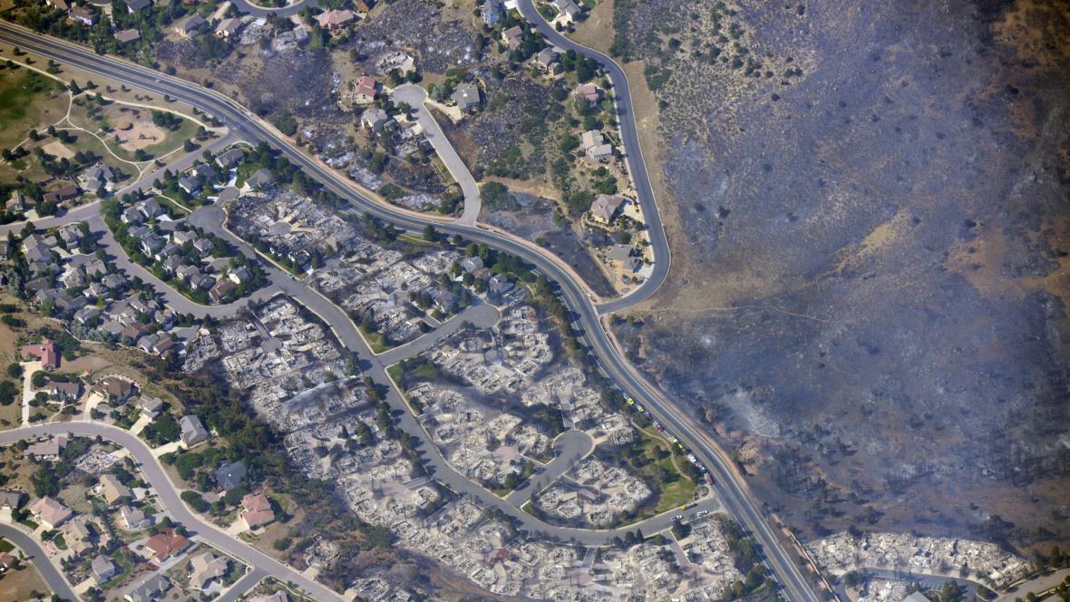 Následky požáru v Colorado Springs
