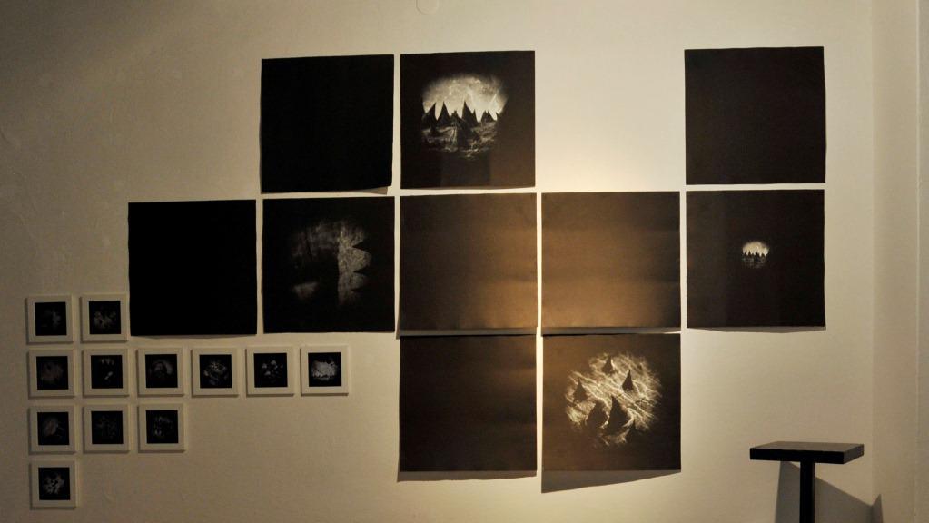 Digitální tisky výtvarnice Aleksandry Janik z cyklu Imaginarium