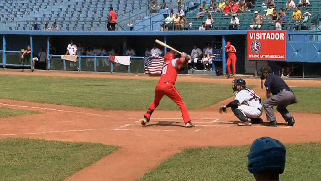 Baseballový zápas mezi Kubou a USA