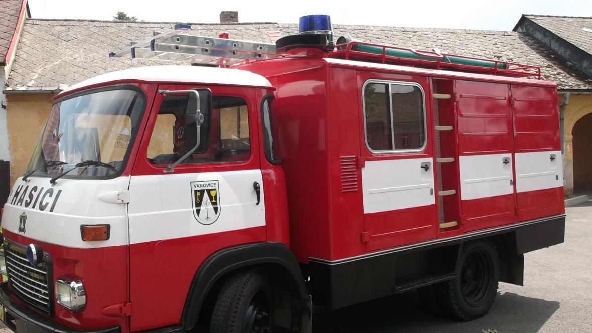 Zásahový vůz vanovických hasičů