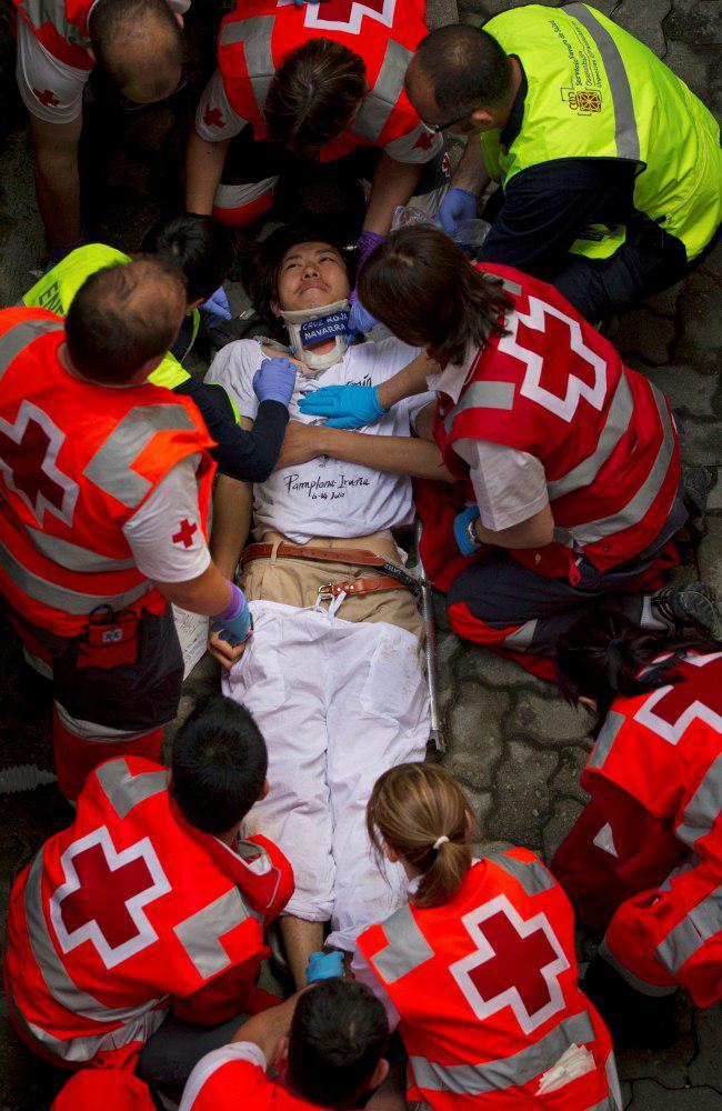 Mezi běžci (mozos) je každoročně zraněno asi 200 až 300 lidí