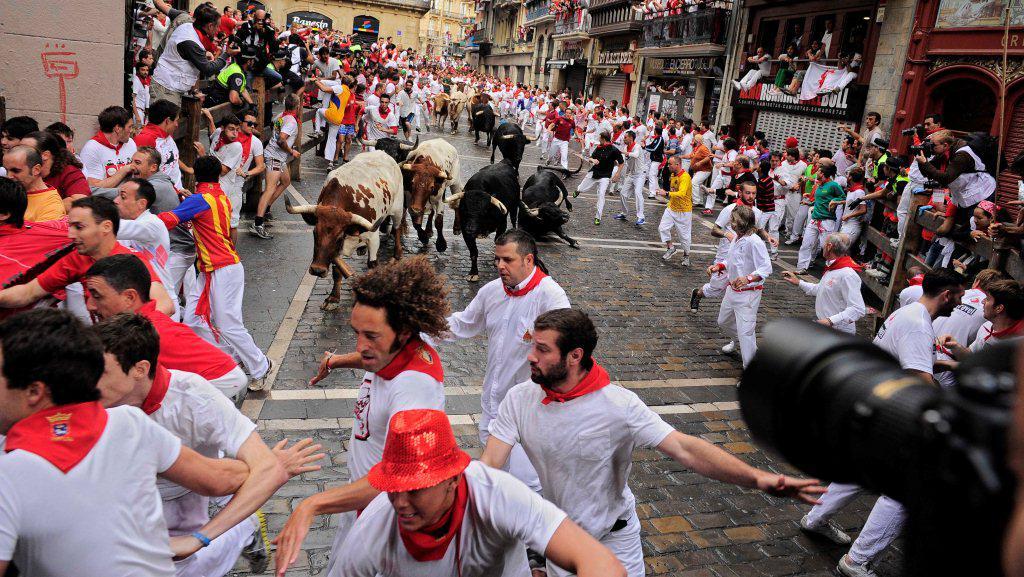Běh s býky na oslavu svatého Fermína
